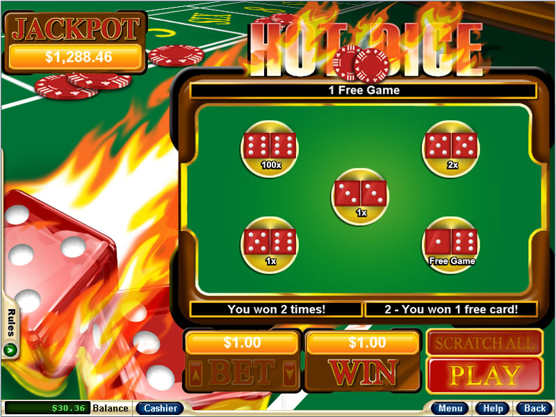 online game casino sizzing hot